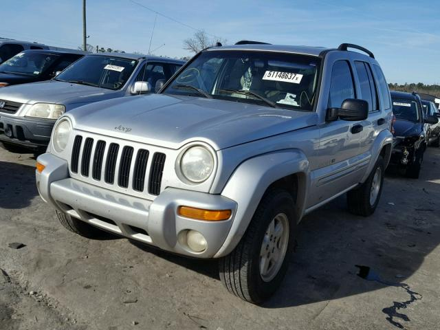1J4GK58K42W317432 - 2002 JEEP LIBERTY LI SILVER photo 2