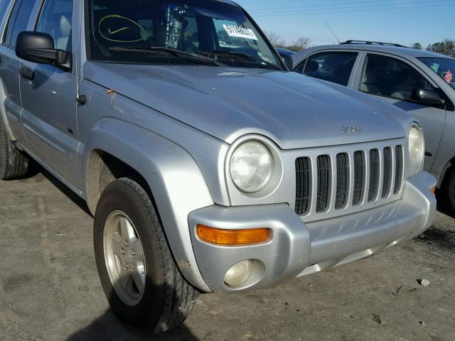1J4GK58K42W317432 - 2002 JEEP LIBERTY LI SILVER photo 9