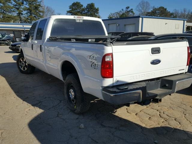 1FT7W2B69FEA09690 - 2015 FORD F250 SUPER WHITE photo 3