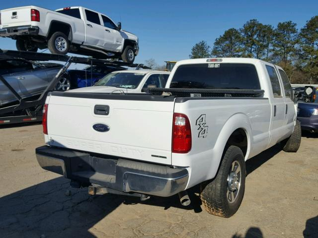 1FT7W2B69FEA09690 - 2015 FORD F250 SUPER WHITE photo 4