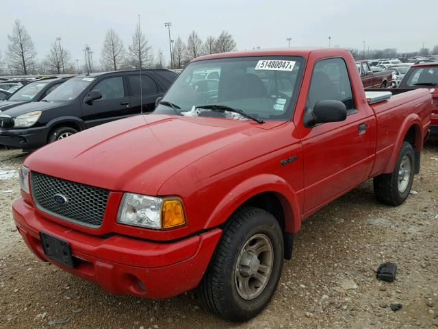 1FTYR10U83PA10000 - 2003 FORD RANGER RED photo 2