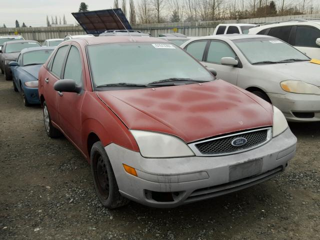 1FAFP34N05W170799 - 2005 FORD FOCUS ZX4 RED photo 1