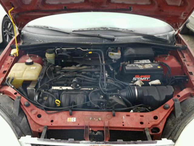 1FAFP34N05W170799 - 2005 FORD FOCUS ZX4 RED photo 7