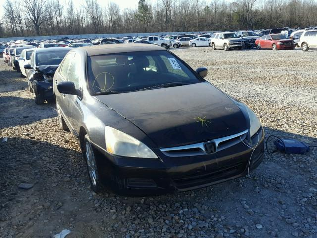 1HGCM66547A105783 - 2007 HONDA ACCORD EX BLACK photo 1