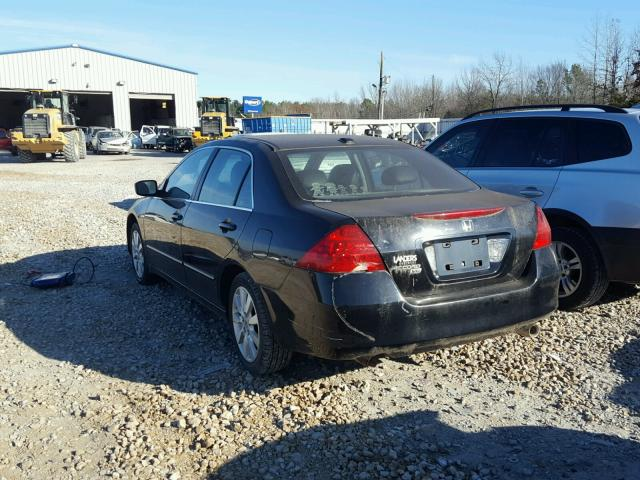 1HGCM66547A105783 - 2007 HONDA ACCORD EX BLACK photo 3