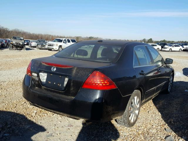 1HGCM66547A105783 - 2007 HONDA ACCORD EX BLACK photo 4