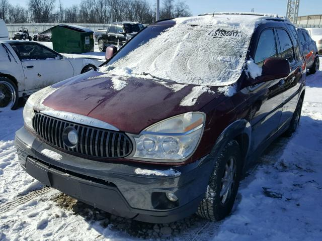 3G5DB03E34S576643 - 2004 BUICK RENDEZVOUS MAROON photo 2