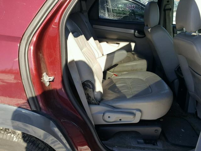 3G5DB03E34S576643 - 2004 BUICK RENDEZVOUS MAROON photo 6