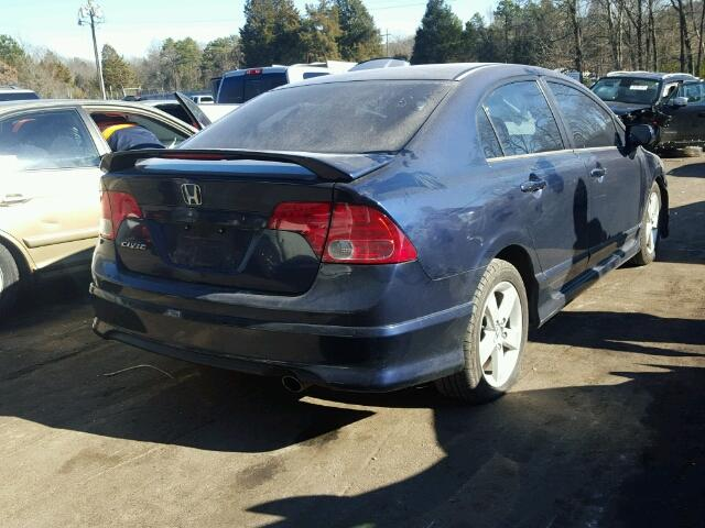 1HGFA16866L067155   2006 HONDA CIVIC EX BLUE Photo 4