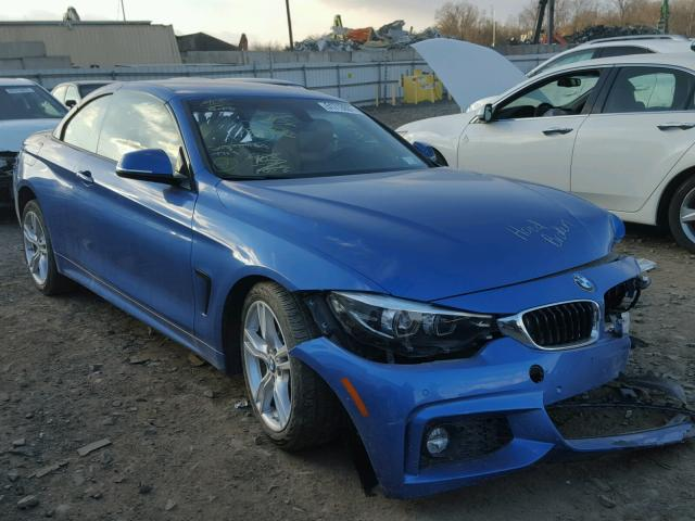 WBA4Z3C50JEC48642 - 2018 BMW 430XI BLUE photo 1