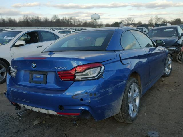 WBA4Z3C50JEC48642 - 2018 BMW 430XI BLUE photo 4