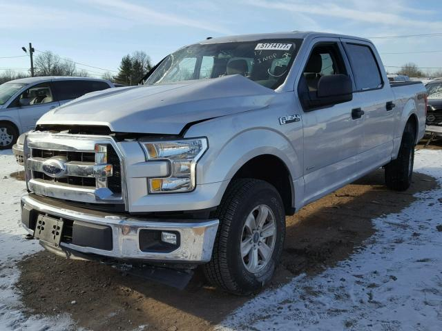 1FTEW1EG4HFC37096 - 2017 FORD F150 SUPER SILVER photo 2
