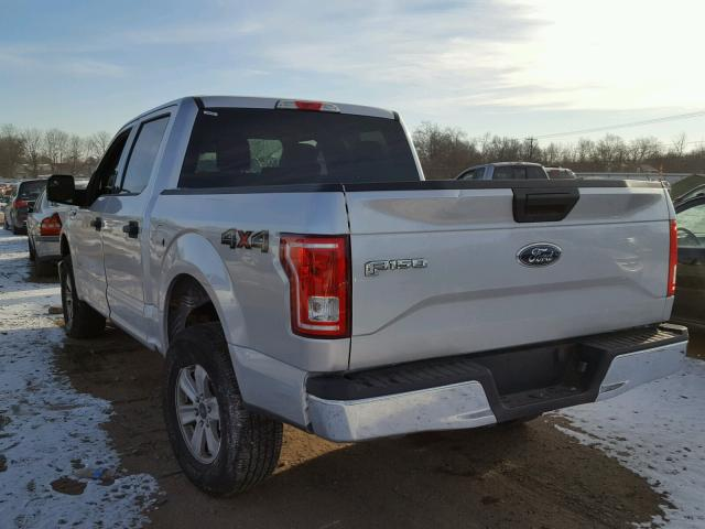 1FTEW1EG4HFC37096 - 2017 FORD F150 SUPER SILVER photo 3
