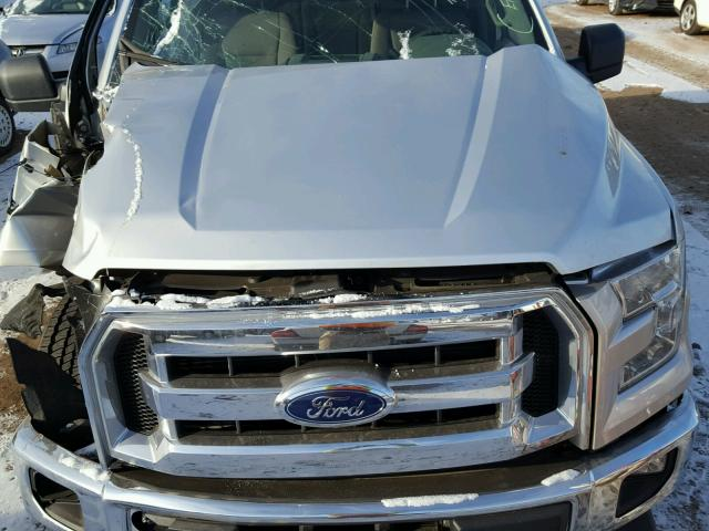 1FTEW1EG4HFC37096 - 2017 FORD F150 SUPER SILVER photo 7