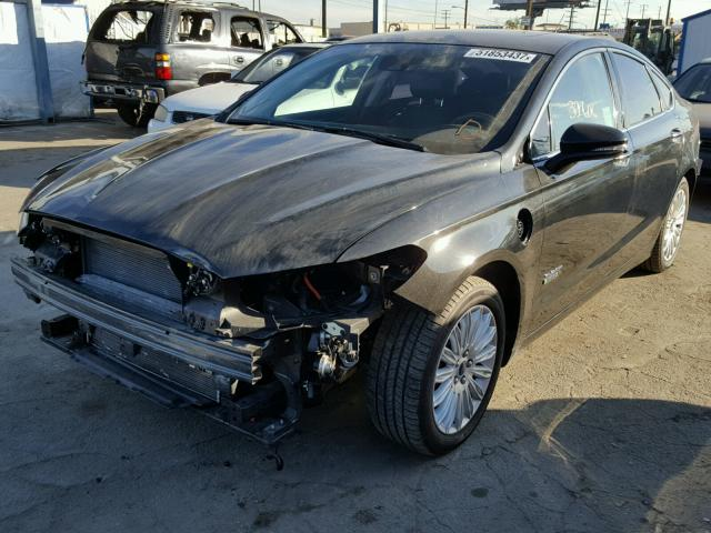 3FA6P0SU8ER329886 - 2014 FORD FUSION TIT BLACK photo 2