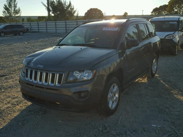 1C4NJCBA2FD149358 - 2015 JEEP COMPASS SP GRAY photo 2