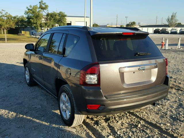 1C4NJCBA2FD149358 - 2015 JEEP COMPASS SP GRAY photo 3