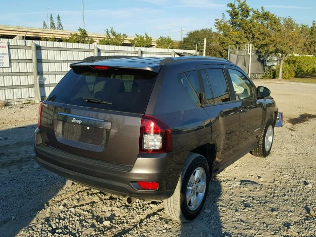 1C4NJCBA2FD149358 - 2015 JEEP COMPASS SP GRAY photo 4