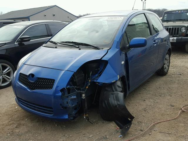 JTDJT903085140302 - 2008 TOYOTA YARIS BLUE photo 2