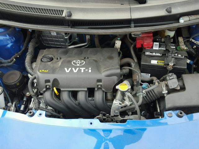 JTDJT903085140302 - 2008 TOYOTA YARIS BLUE photo 7