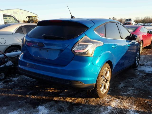 1FAHP3M22CL117406 - 2012 FORD FOCUS SEL BLUE photo 4