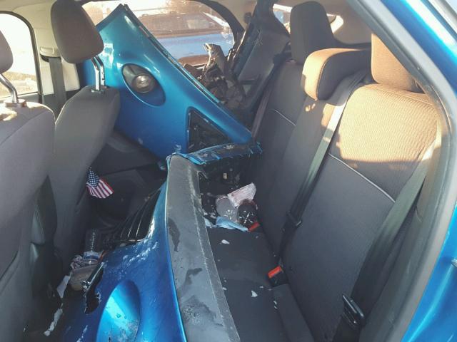 1FAHP3M22CL117406 - 2012 FORD FOCUS SEL BLUE photo 6