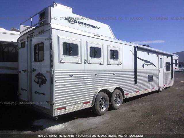 51Y3C6L29F2005247 - 2015 BISON HORSE TRAILER  WHITE photo 4