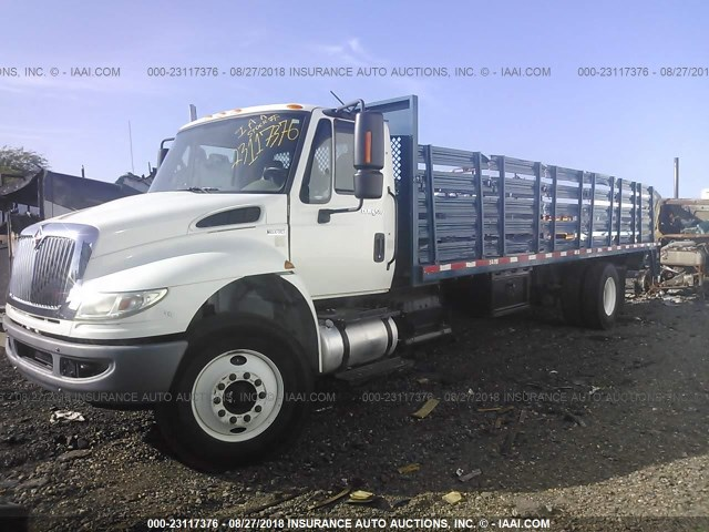 3HAMKAAN8DL248156 - 2013 INTERNATIONAL 4400 4400 WHITE photo 2