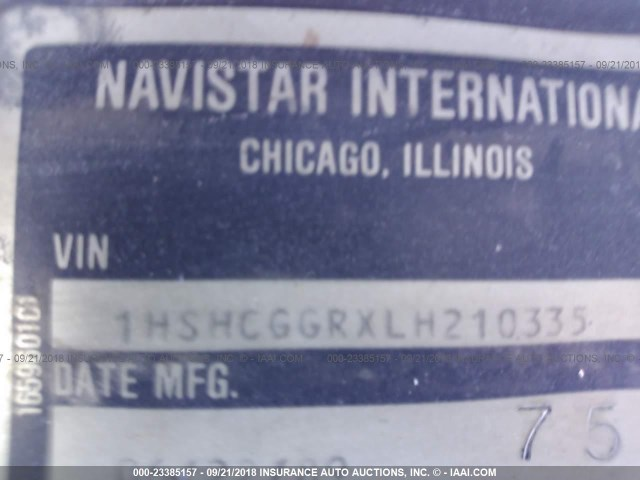 1HSHCGGRXLH210335 - 1990 INTERNATIONAL 8000 8100 WHITE photo 10