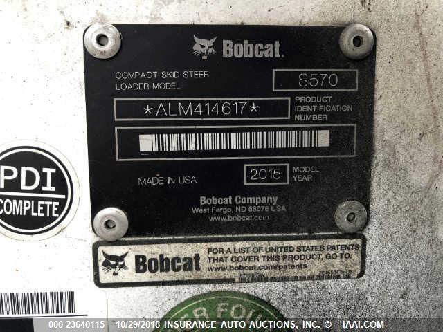 ALM414617 - 2015 BOBCAT S570 SKID STEER LOADER  Unknown photo 9